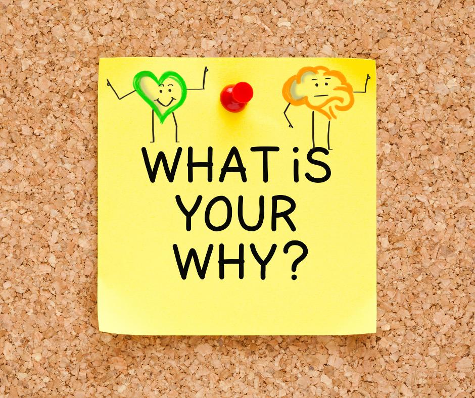 """Die richtigen Fragen stellen: Post it mit der Frage: """"What ist your why"""""""