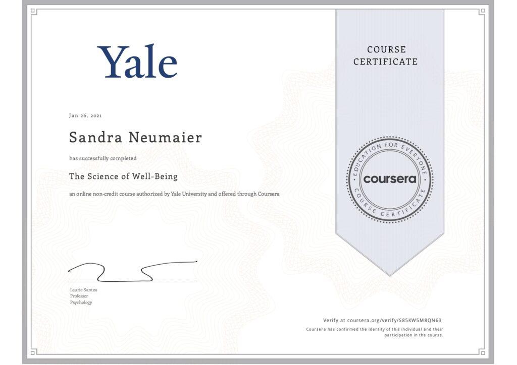 Yale Zertifikat